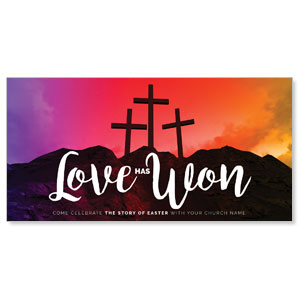 Crosses Love Has Won XLarge Postcards