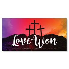 Crosses Love Has Won XLarge Postcard