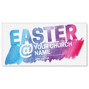 Easter At Watercolor Church Postcards