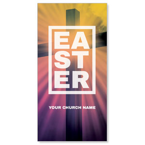 Easter Bold Cross XLarge Postcards