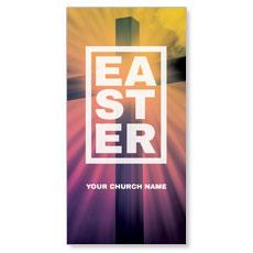 Easter Bold Cross XLarge Postcard