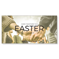Easter Come Together XLarge Postcard