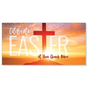 Easter Cross Sunrise XLarge Postcards