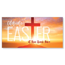 Easter Cross Sunrise XLarge Postcard