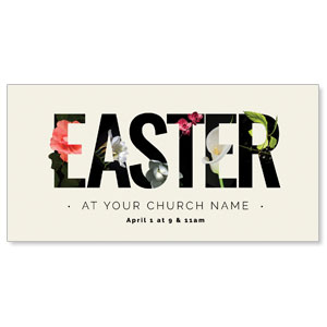 Easter Flower Letters XLarge Postcards