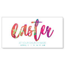 Easter Paint Splatter XLarge Postcard