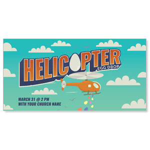 Helicopter Egg Drop XLarge Postcards