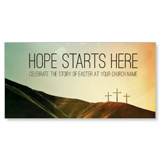 Hope Starts Here Calvary XLarge Postcard