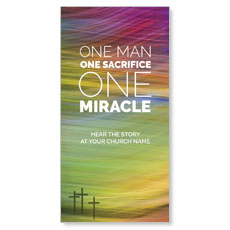 One Man One Miracle XLarge Postcard