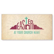 Parchment Easter XLarge Postcard