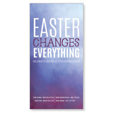 Purple Easter Changes XLarge Postcard