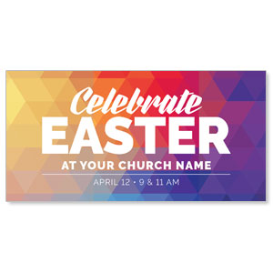 "Geometric Bold Easter 11"" x 5.5"" Oversized Postcards"