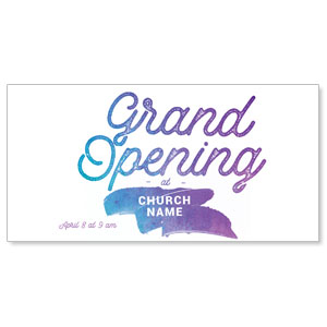 Grand Opening Paint Church Postcards