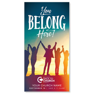 BTCS You Belong Here XLarge Postcards