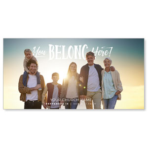 BTCS You Belong Here Family Church Postcards