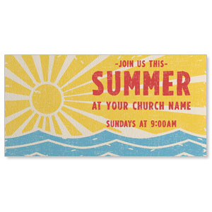 "Summer Sun Waves 11"" x 5.5"" Oversized Postcards"