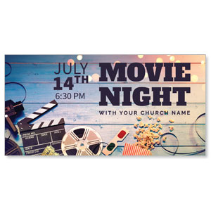 "Movie Night 11"" x 5.5"" Oversized Postcards"