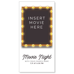 "Insert Movie Here 11"" x 5.5"" Oversized Postcards"