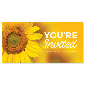 "Sunflower Yellow 11"" x 5.5"" Oversized Postcards"