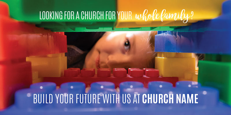 Church Postcards, You're Invited, Build Future, 5.5 x 11