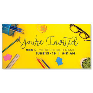 "VBS Yellow 11"" x 5.5"" Oversized Postcards"