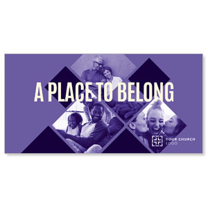 Place Belong Purple XLarge Postcards