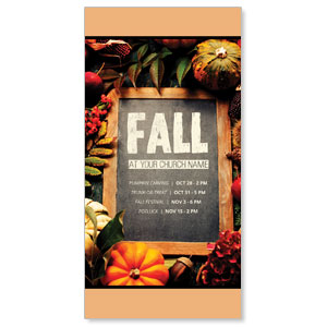 Fall Events Chalkboard XLarge Postcards