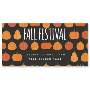 "Pumpkins Hand Drawn Fall Festival 11"" x 5.5"" Oversized Postcards"