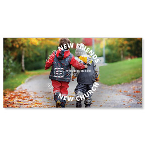"Fall Find New Friends 11"" x 5.5"" Oversized Postcards"