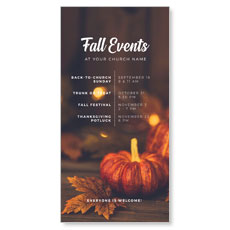Fall Events Gold Lights XLarge Postcard