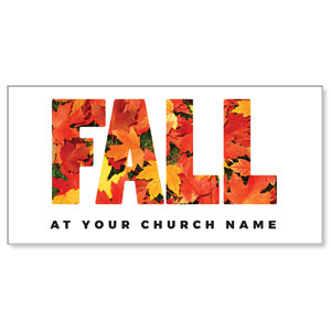 Fall Bold Leaves XLarge Postcards