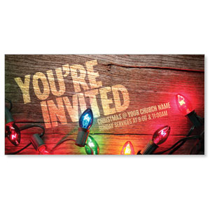 Invited Christmas Lights XLarge Postcards