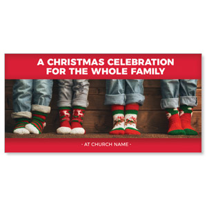 "Family Christmas Socks 11"" x 5.5"" Oversized Postcards"