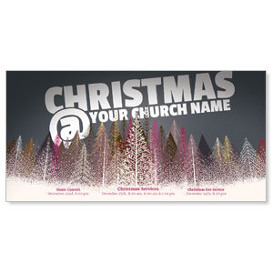 Christmas At Paper Trees XLarge Postcards