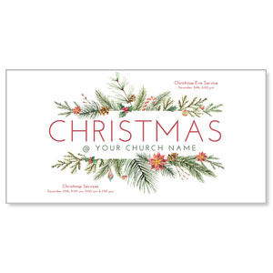 "Hand Painted Christmas 11"" x 5.5"" Oversized Postcards"