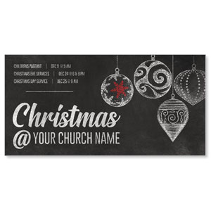 White Chalk Christmas XLarge Postcards