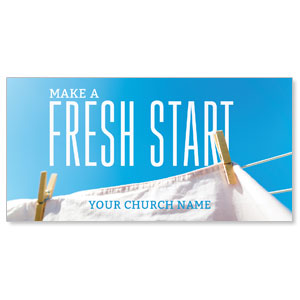 Fresh Start Clothes Line Church Postcards