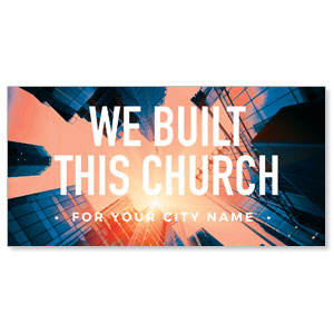 "Built This Church 11"" x 5.5"" Oversized Postcards"