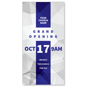 "Grand Opening Geometric 11"" x 5.5"" Oversized Postcards"