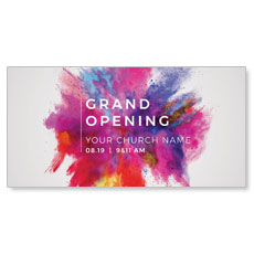 Color Burst Grand Opening Church Postcard