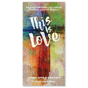 "This is Love Easter 11"" x 5.5"" Oversized Postcards"