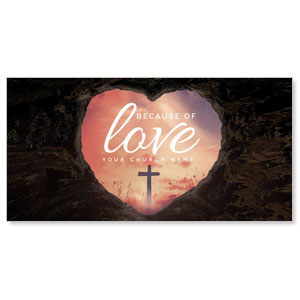 Because of Love Church Postcards