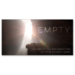 "Empty Tomb Open 11"" x 5.5"" Oversized Postcards"