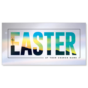 "Bold Easter Calvary Hill 11"" x 5.5"" Oversized Postcards"