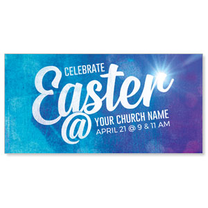 "Blue Purple Easter At 11"" x 5.5"" Oversized Postcards"