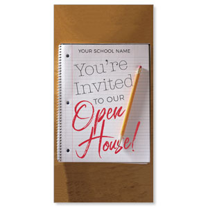 "School Notebook 11"" x 5.5"" Oversized Postcards"