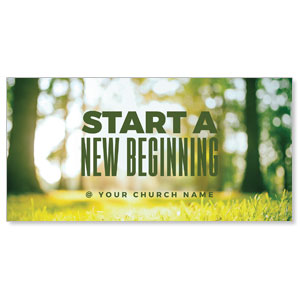 "Start New Beginning Green 11"" x 5.5"" Oversized Postcards"