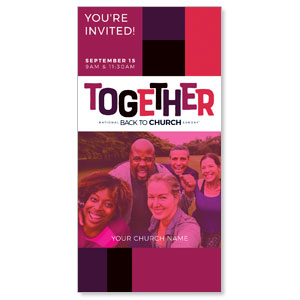 "BTCS Together 11"" x 5.5"" Oversized Postcards"