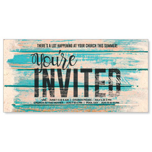 "Blue Wood Sand 11"" x 5.5"" Oversized Postcards"