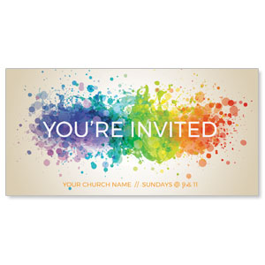 "Color Spectrum Splatter 11"" x 5.5"" Oversized Postcards"
